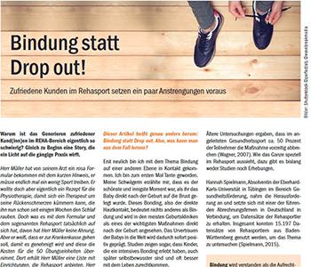 Lese-Tipp Zufriedene Kunden im Rehasport - Nachhaltigkeit