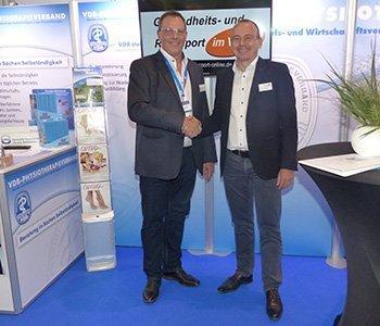 Zusammenarbeit - Bundesvorsitzenden des VDB Wilfried Hofmann und Winfried Möck