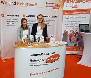 Messebericht Pressemitteilung TheraPro 2018 in Stuttgart - auch 2019 wieder mit einem Rehasport Informationsstand