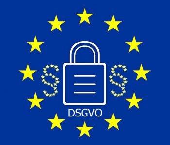 Vorlagen Datenschutzformulare Rehasport - Flagge Europa mit Paragraph