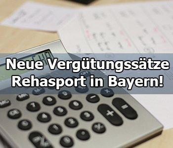 Neue Vergütungssätze Rehasport Bayern seit dem 01.07.2018