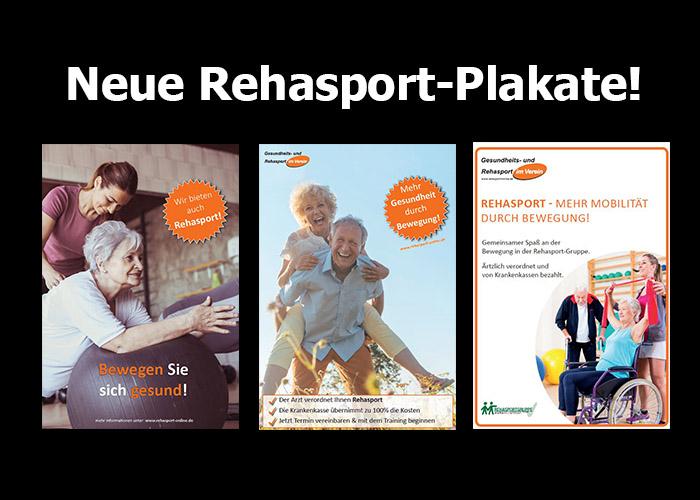 Neue Rehasport-Plakate für unsere Netzwerkpartner zum selbst drucken lassen