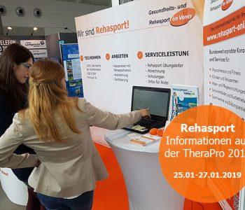 Rehasport Messestand auf der TheraPro 2019 in Stuttgart - Rehasport im Verein