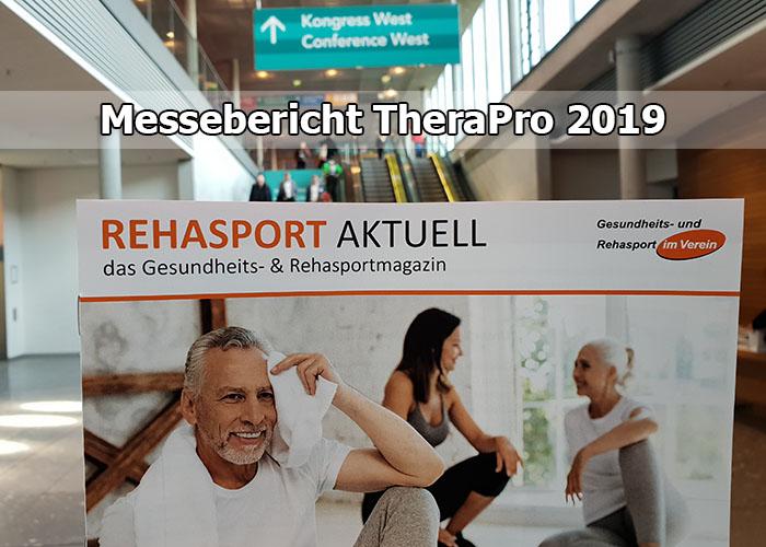 Rückblick Messe TheraPro 2019 in Stuttgart - Rehasport Bericht
