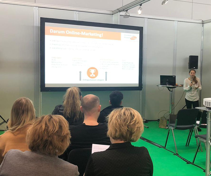 TheraPro 2019 Stuttgart Messebilder Vortrag Online Marketing am Beispiel Rehasport