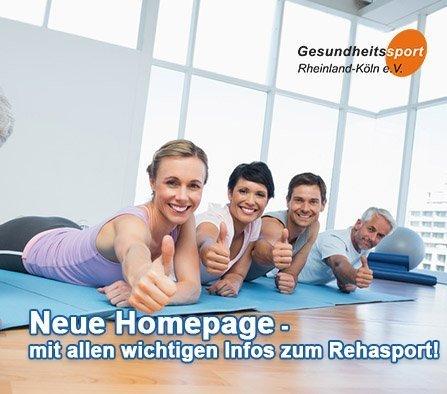 Neue Homepage - Gesundheits- und Rehasportverein Rheinland-Köln e. V. Beitrag Infos