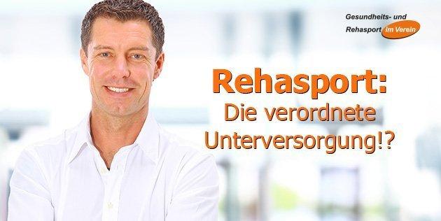 Rehasport Die verordnete Unterversorgung - Fachartikel von Winfried Möck in der vdb Zeitschrift 2019