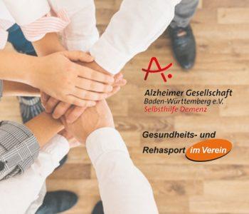 Beitragsbild Hände zusammen - Kooperation Rehasport mit Demenz