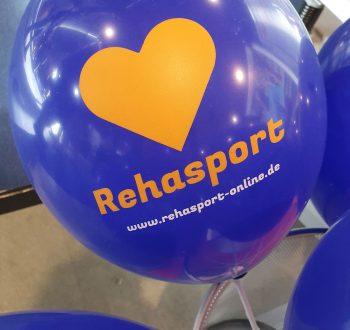 Luftballons mit Rehasport-Motiv