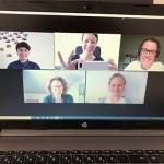 Team Anerkennung im wöchentlichen Zoom-Meeting