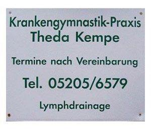 Rehasport Bielefeld - Anbieter Praxis für Krankengymnastik Theda Kempe - Logo
