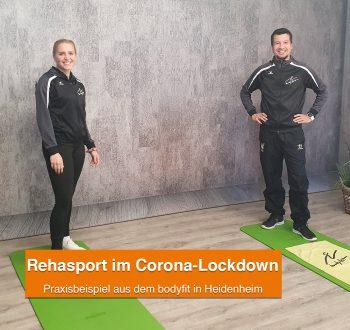 Rehasport im Corona Lockdown - Erfahrt mehr im Interview mit Thomas und Hanna aus dem bodyfit in Heidenheim