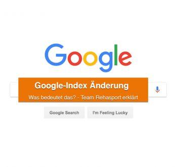 Google-Index Änderung zum März 2021