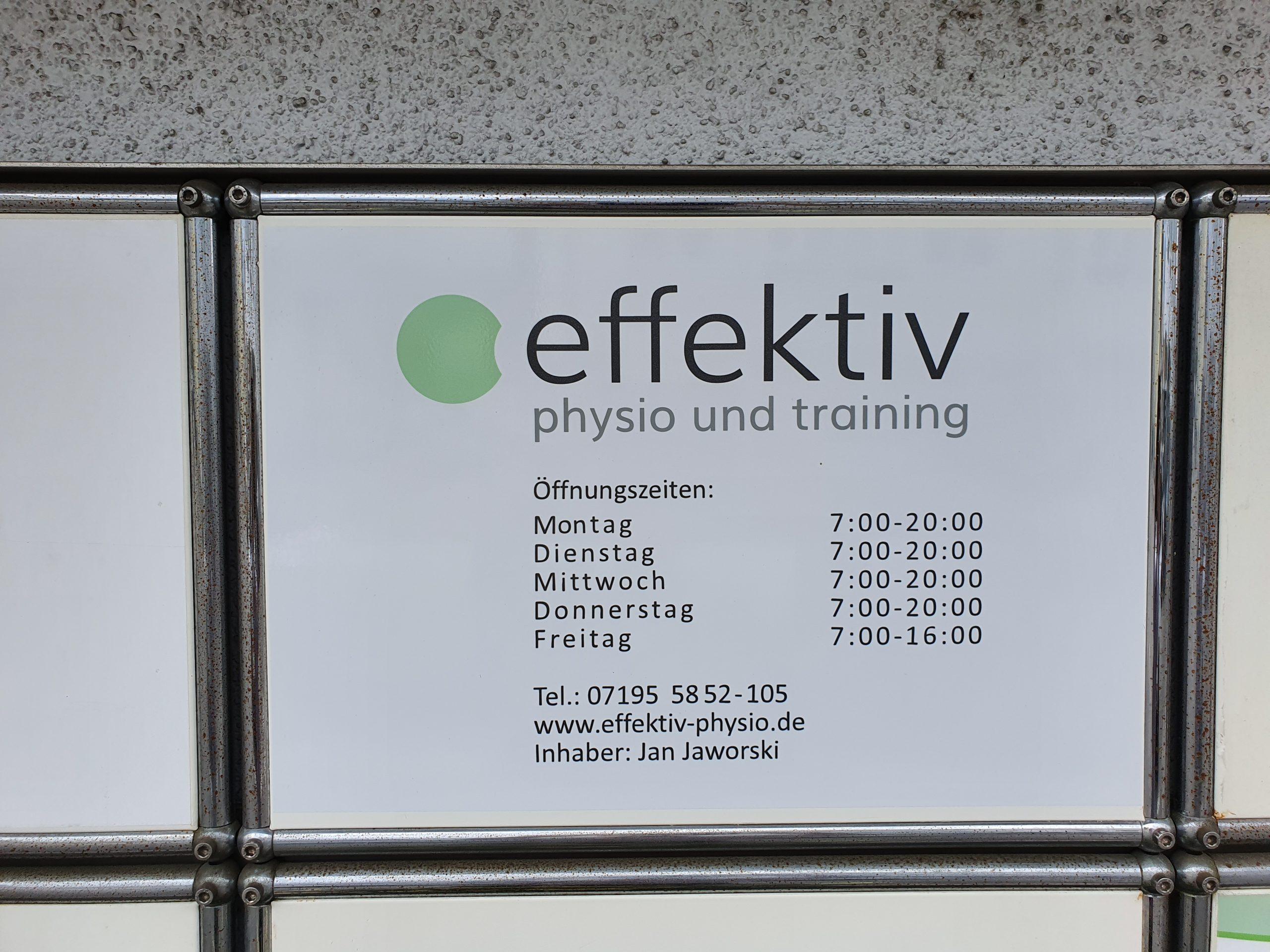 Standort - Schwaikheim - Effektiv Physio