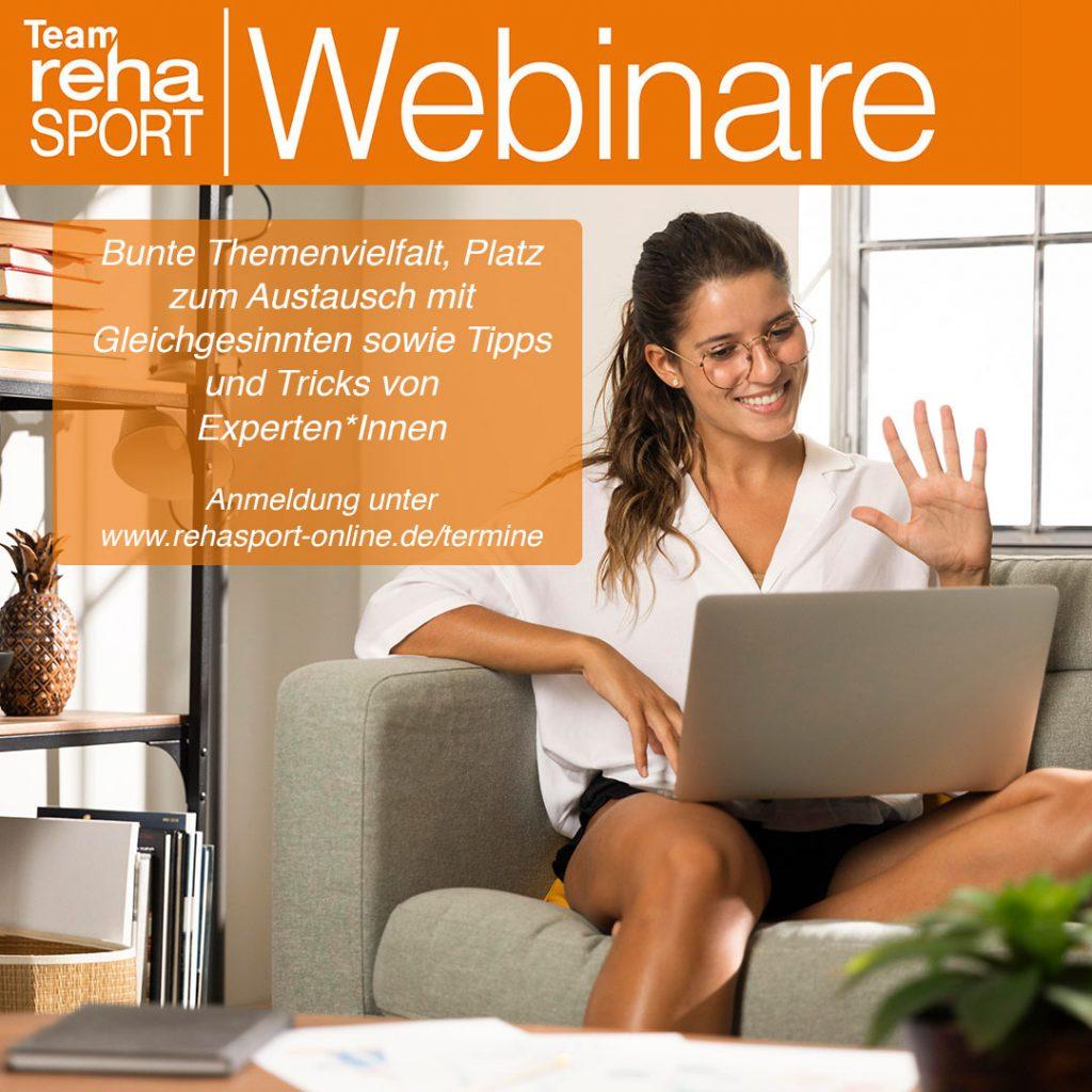 Team Rehasport Webinare für Rehasport-Interessierte