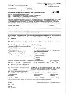 G0850 Deutsche Rentenversicherung Verordnung Rehabilitationssport